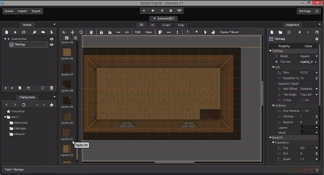 Working in Godot